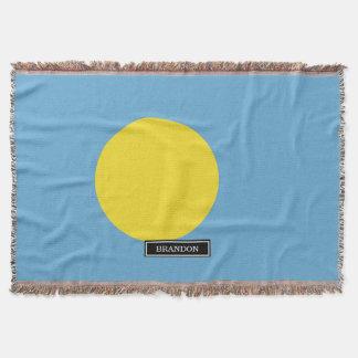 Palau Flag Throw Blanket