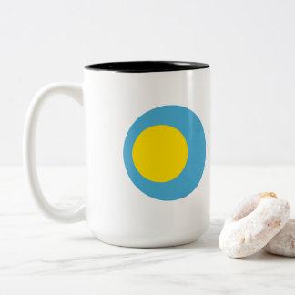 Palau Flag Two-Tone Coffee Mug