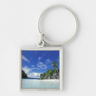 Palau, Rock Islands, Honeymoon Island, World Silver-Colored Square Key Ring