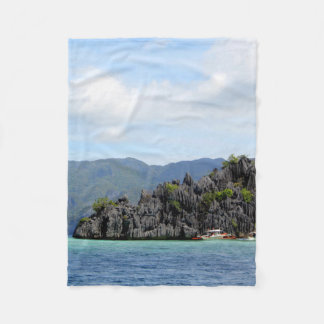 Palawan Beach Fleece Blanket