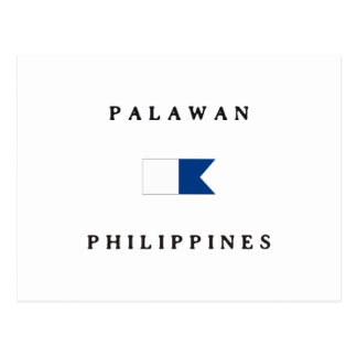 Palawan Philippines Alpha Dive Flag Postcards