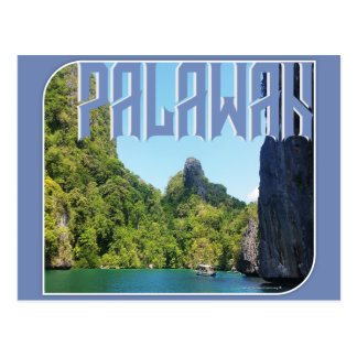 """Palawan """"the best island in the world"""" postcard"""