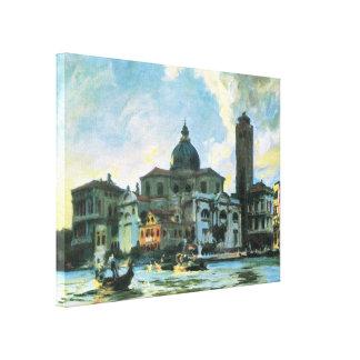 Palazzo Labia Venice Sargent Vintage Impressionism Gallery Wrap Canvas