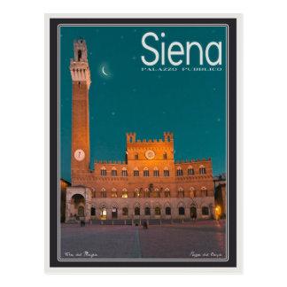 Palazzo Pubblico at Night Postcard