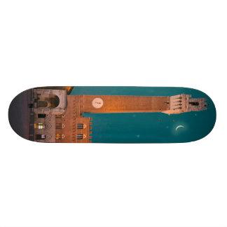 Palazzo Pubblico at Night Skate Board Deck