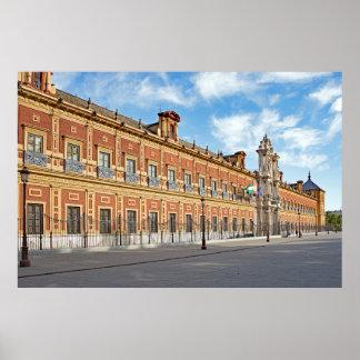 Palazzo San Telmo in Seville Poster