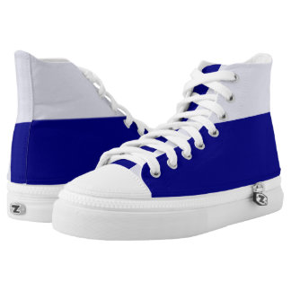 Pale and Dark Royal Blue Hi-Top