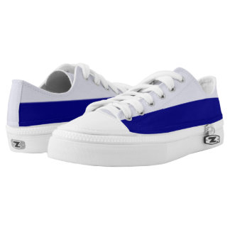 Pale and Dark Royal Blue Two-Tone Lo-Top Printed Shoes