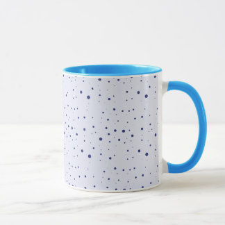 Pale and Navy Blue Speckled