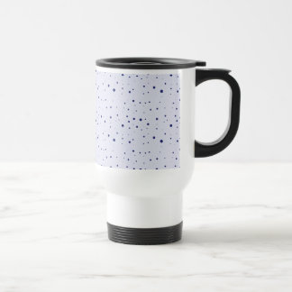 Pale and Navy Blue Speckled Stainless Steel Travel Mug