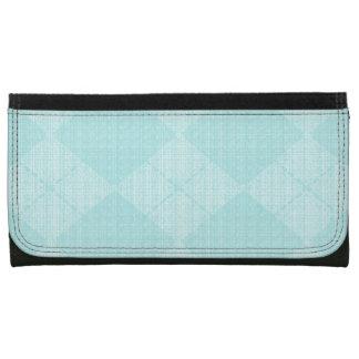 Pale-Aqua-Argyle-Wallet's-Multi-Styles Leather Wallet For Women