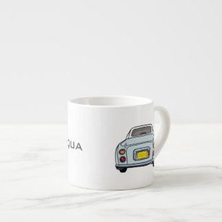 Pale Aqua Blue Nissan Figaro customised cup Espresso Mug