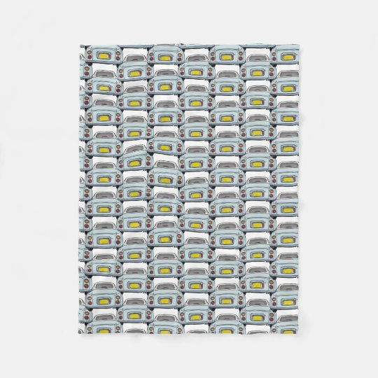 Pale Aqua Nissan Figaro Car Convoy Fleece Blanket