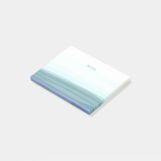 Pale Aqua Watercolor Waves Sticky Post-it® Notes