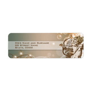 Pale avocado choc cream return address label