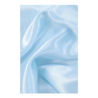 Pale Baby Blue Satin Customized Stationery