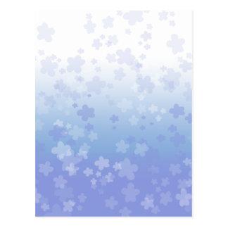 Pale Blossoms Blue Post Card