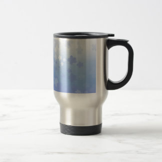 Pale Blossoms Blue Stainless Steel Travel Mug