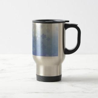 Pale Blossoms Blue Travel Mug