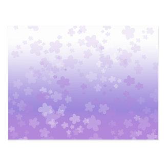 Pale Blossoms Purple Postcard