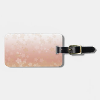 Pale Blossoms Sunset Luggage Tag