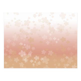 Pale Blossoms Sunset Postcard