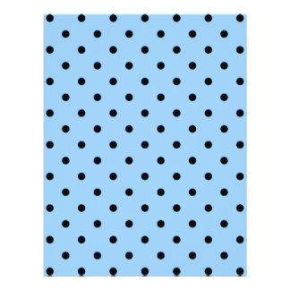 Pale Blue and Black Polka Dot Pattern. Flyer Design