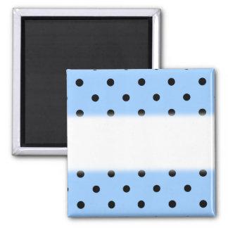 Pale Blue and Black Polka Dot Pattern. Magnet
