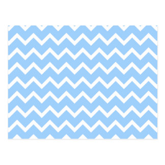 Pale Blue and White Zig zag Stripes Post Card