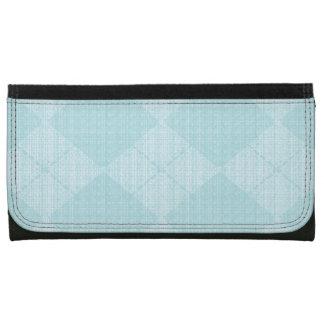 Pale-Blue-Argyle-Wallet's-Multi-Styles Wallet For Women