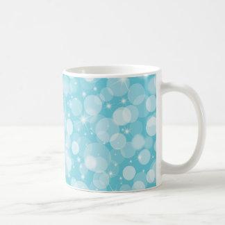 Pale Blue Bokeh Lights Coffee Mugs