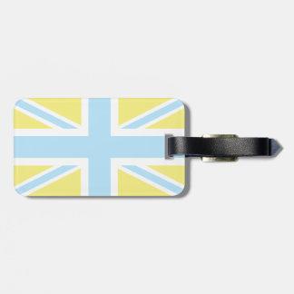 Pale Blue Classic Union Jack British(UK) Flag Luggage Tag