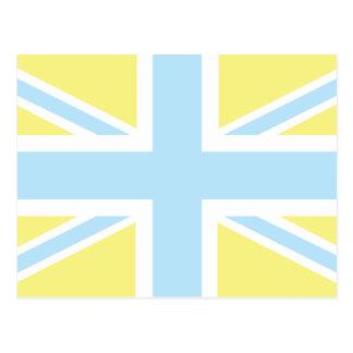 Pale Blue Classic Union Jack British(UK) Flag Postcard