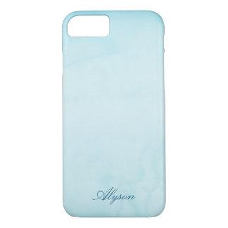 Pale Blue Custom Name iPhone 8/7 Case