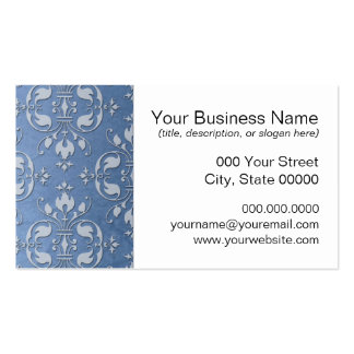 Pale Blue Damask Pack Of Standard Business Cards