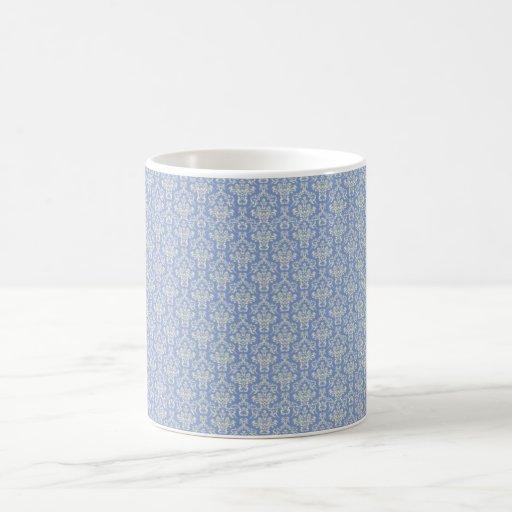 Pale Blue damask Coffee Mugs