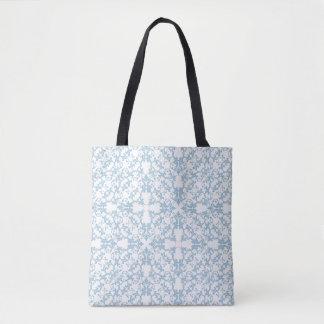Pale Blue Damask Tote Bag