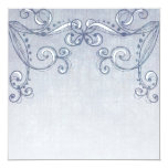 Pale Blue Denim Swirls Customisable Invitations 13 Cm X 13 Cm Square Invitation Card
