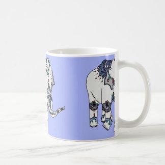Pale Blue Embellished Elephant Mug