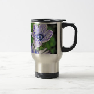 Pale Blue Flower Travel Mug