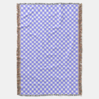 Pale Blue Gingham Throw