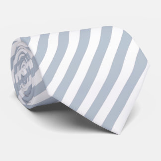 Pale Blue Grey and White Stripes Tie