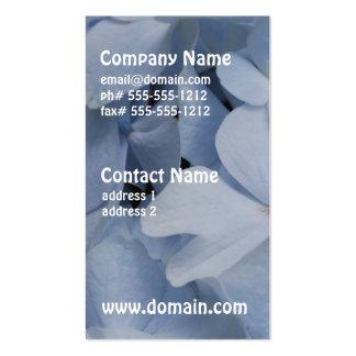 Pale Blue Hydrangea Business Card Templates