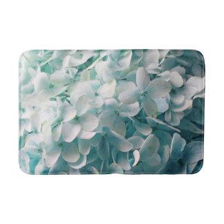 Pale Blue Hydrangea Floral Design Bath Mats