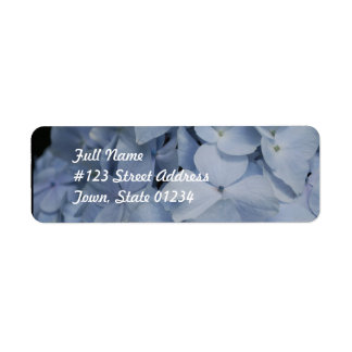 Pale Blue Hydrangea Return Address Label