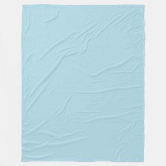 Pale Blue (Light Pastel Baby Blue) Solid Colour Fleece Blanket