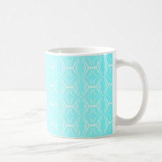 Pale Blue Linked Background Basic White Mug