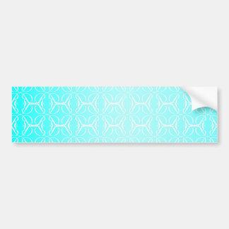 Pale Blue Linked Background Bumper Sticker