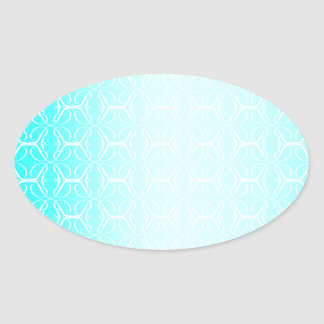 Pale Blue Linked Background Oval Sticker