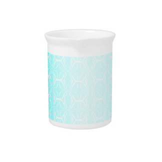 Pale Blue Linked Background Pitcher